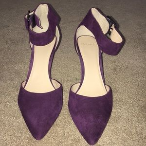 Cole Haan purple suede heels